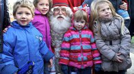 Santa Claus from Finland surprised children living on the Kaposmérő Roma estate
